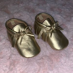 { 3 for $15 } Gold Moccasins